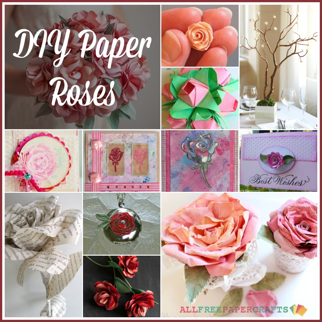 How To Make Paper Roses Craft Paper Scissors