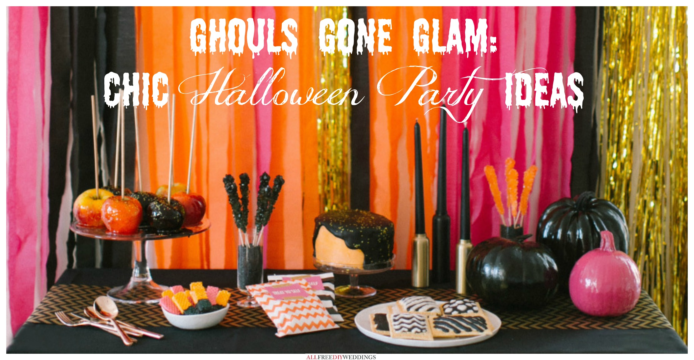 ghouls gone glam chic halloween party ideas craft paper scissors. Black Bedroom Furniture Sets. Home Design Ideas