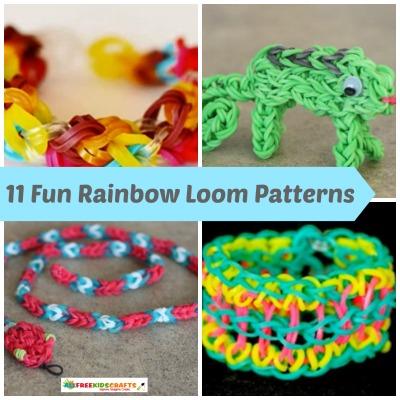 11 Fun Rainbow Loom Patterns Craft Paper Scissors