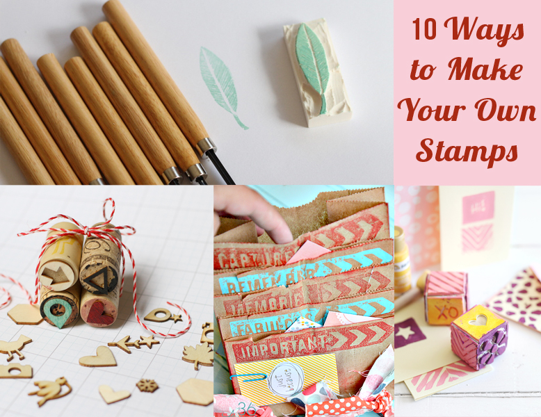 10 ways to make your own stamps craft paper scissors