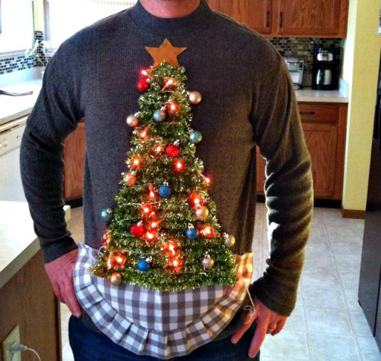 How to make a tacky christmas sweater with lights
