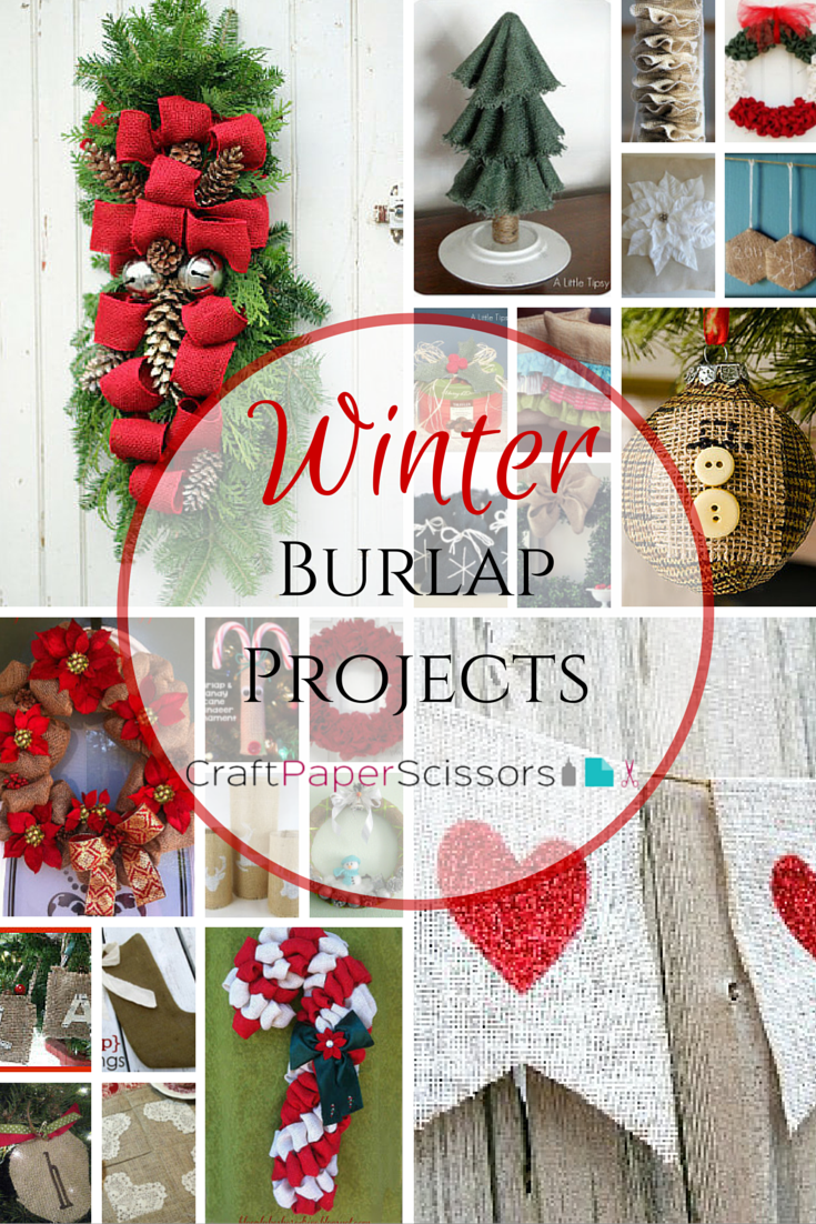 Burlap Craft Ideas For Christmas Part - 20: Winter-burlap-craft-projects Christmas ...