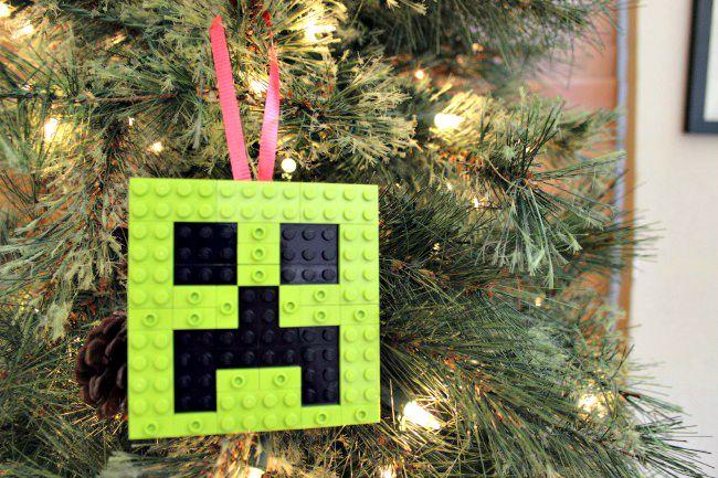 minecraft creeper lego ornament - Nerdy Christmas Ornaments