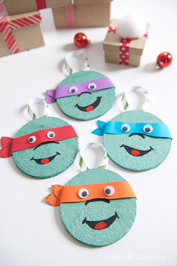 Nerdy diy christmas ornaments craft paper scissors diy coaster tmnt christmas ornaments solutioingenieria Images