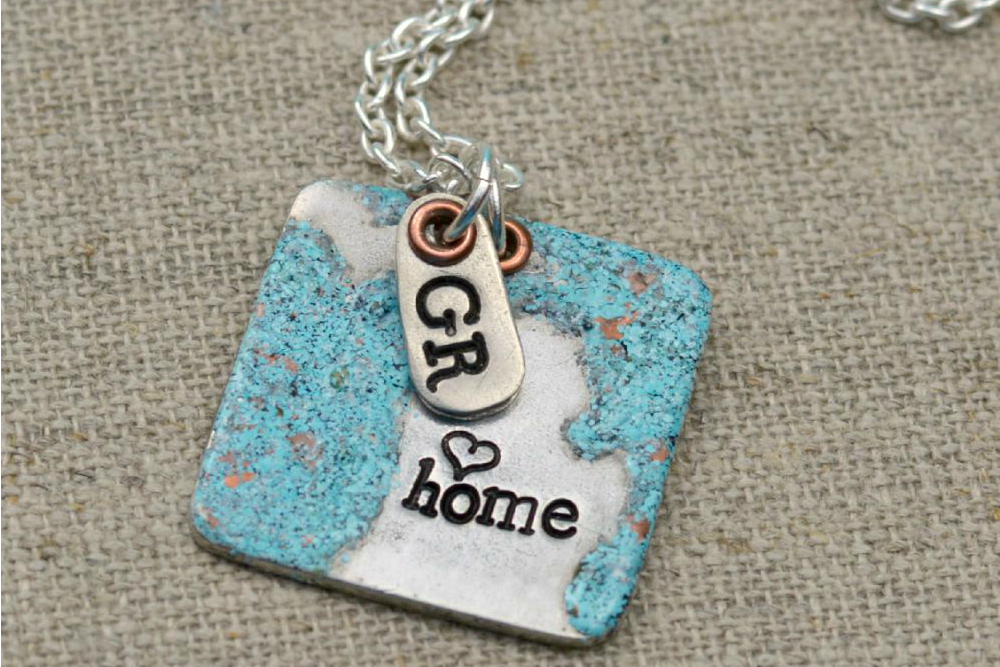 Great Lakes Stamped Necklace 2