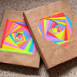 Rainbow Book Cover Add Dimension And Color To Your By Adding A Touch Of Origami