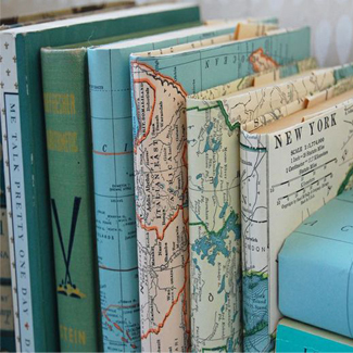 Map Printed Book Covers Did You Know Can Pick Up Free State Maps At Rest Areas On Your Next Road Trip 1 Or 2 For This Fun DIY Project