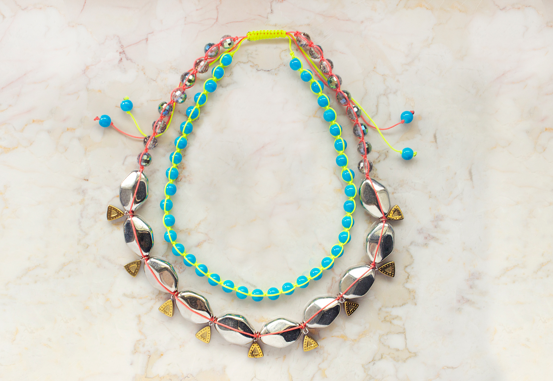 miami heat neon diy necklace - craft paper scissors