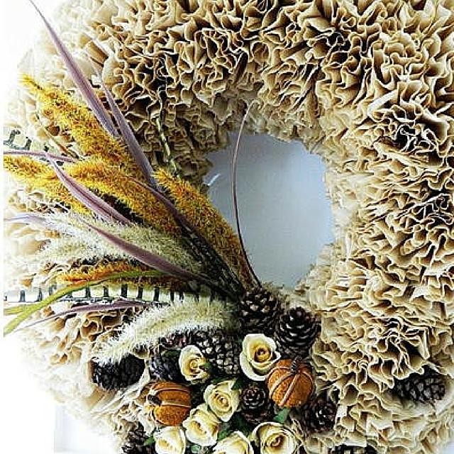 Crafty Coffee Filter Wreath