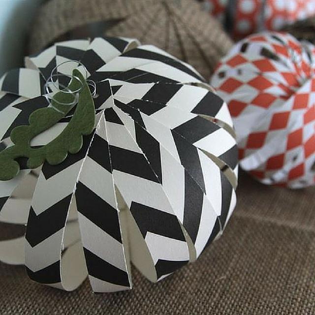 Funky Paper Pumpkins