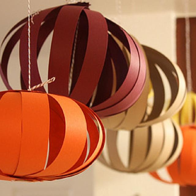 Paper Pumpkin Lanterns