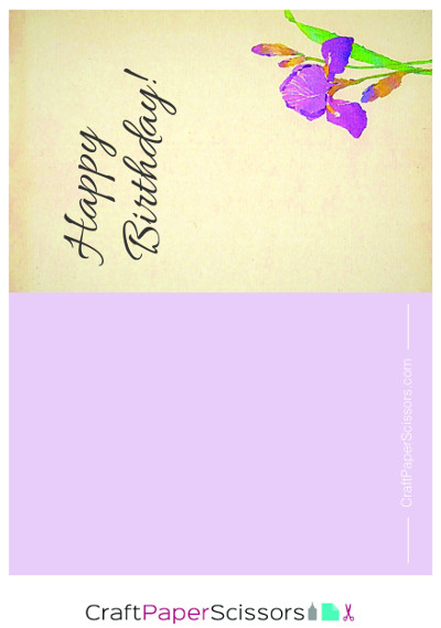 Floral Birthday Card No. 1