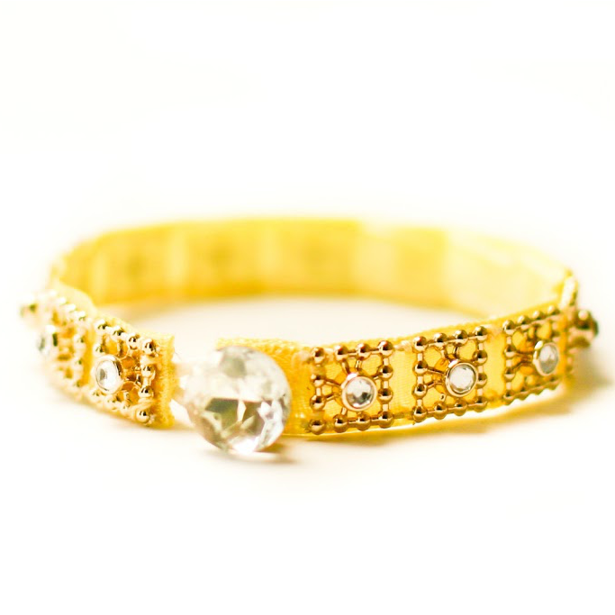 All That Glitters Ribbon Bracelet