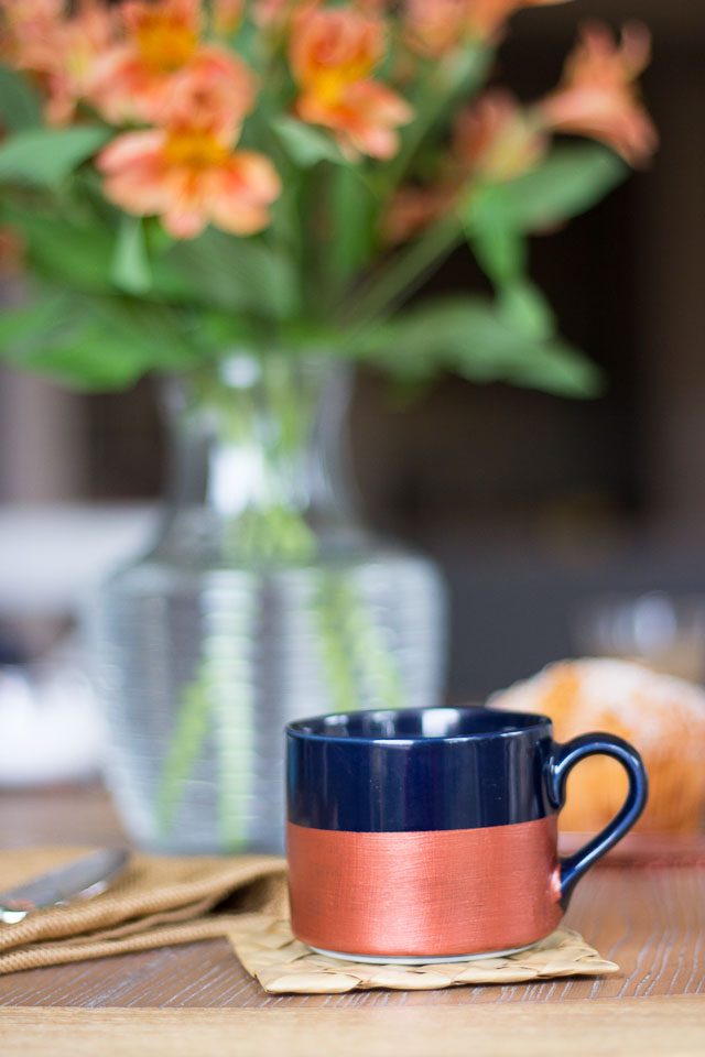 Metallic Painted Mugs