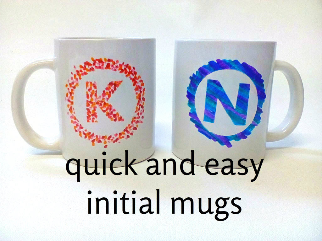 Quick & Easy Initial DIY Mugs