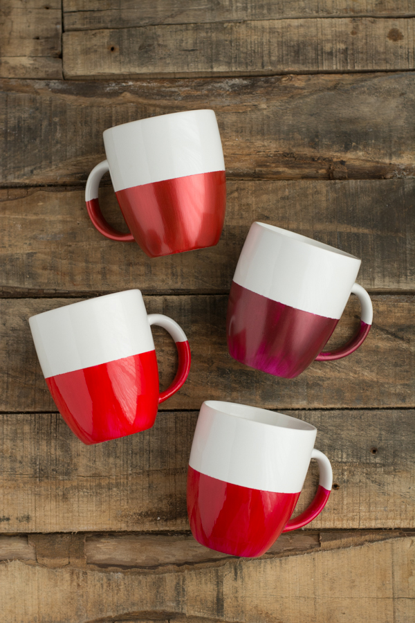 Two-Tone Dipped Mugs