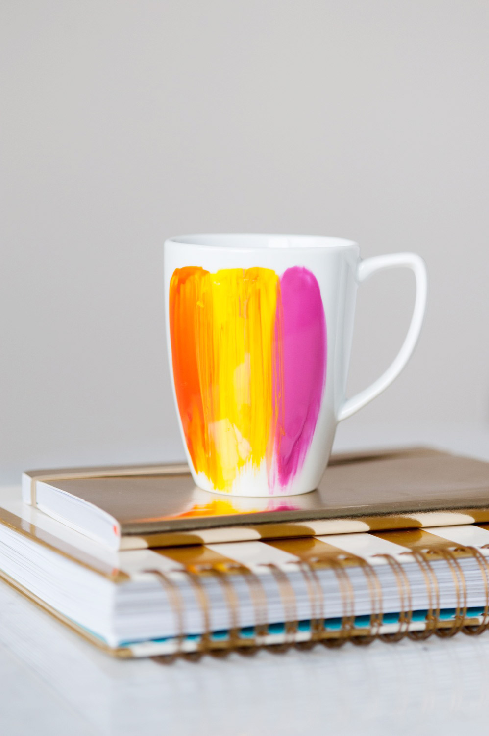 DIY Abstract Brushstroke Mug