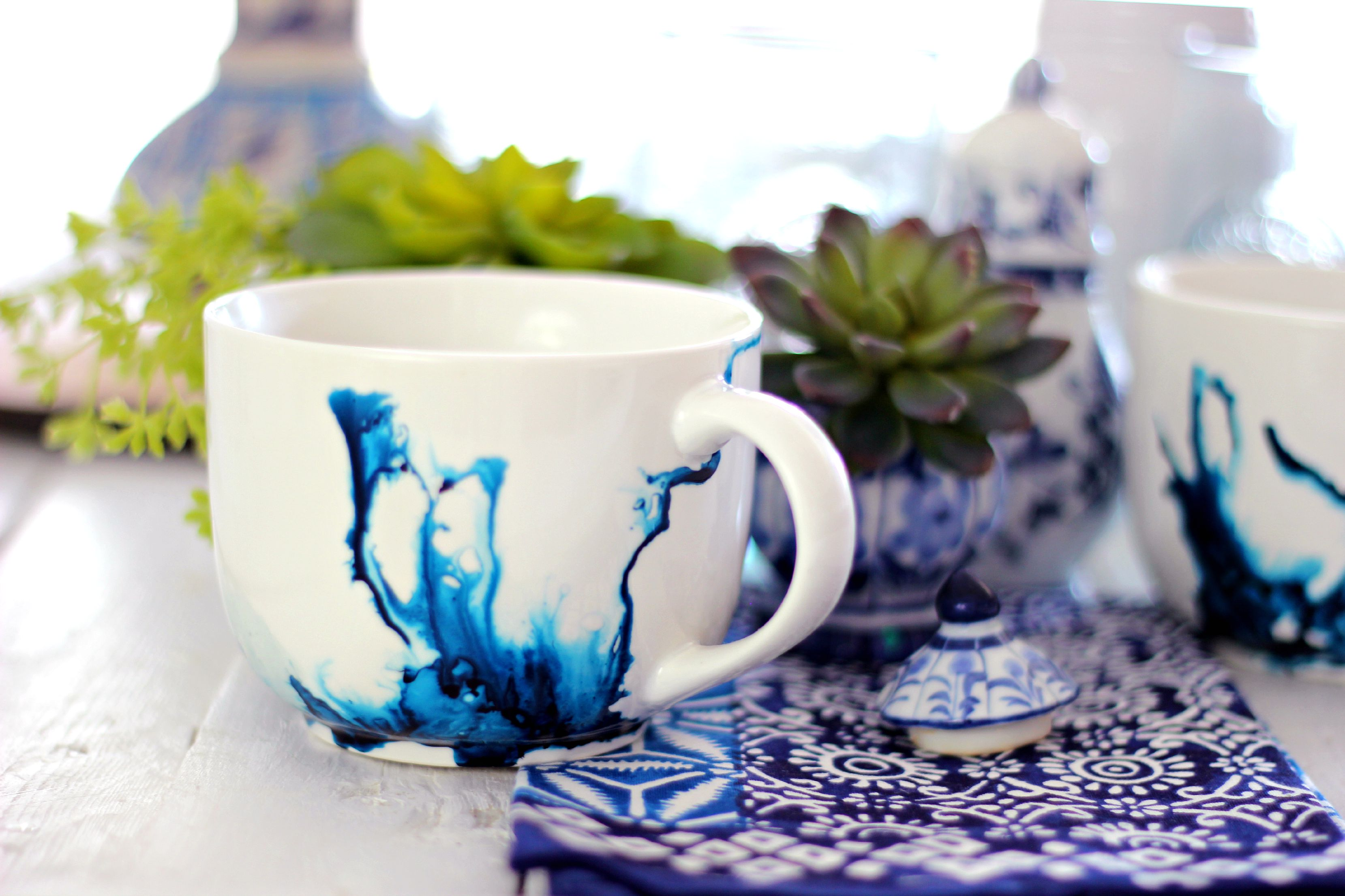 Dollar Store Hack: Beautiful Alcohol Ink Mug