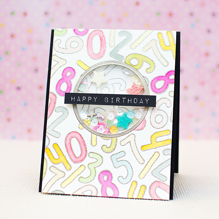 Watercolor Shaker Birthday Card