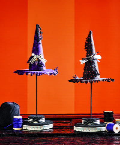 Witch Hat Topiary Halloween Centerpiece