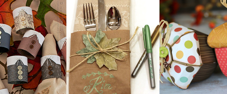 Thanksgiving Paper Crafts for the Hostess