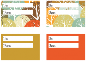 Autumn Printable Gift Tags