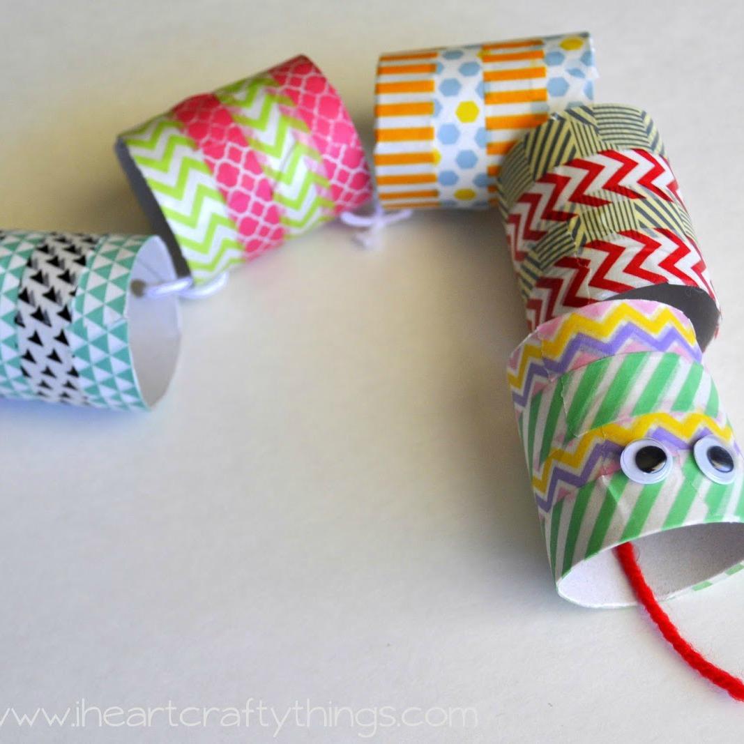Washi Tape Snake Craft