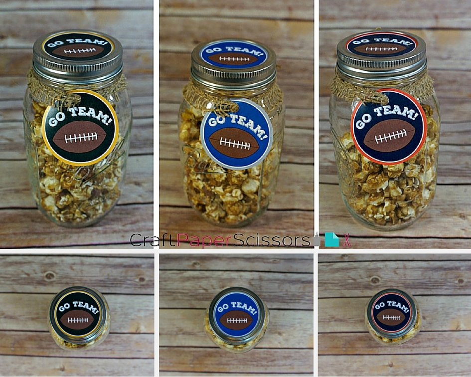 13 Gifts in a Jar for Tailgating + Free Printables