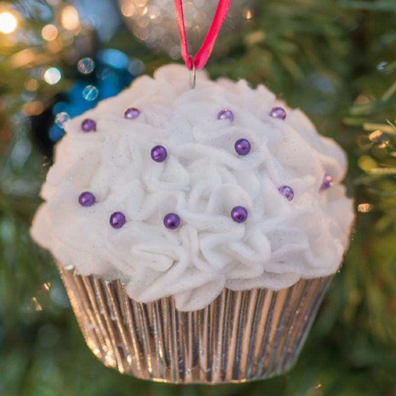 Cupcake DIY Christmas Ornaments