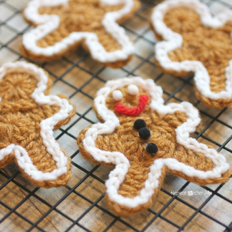 Crochet Gingerbread Man Cookie