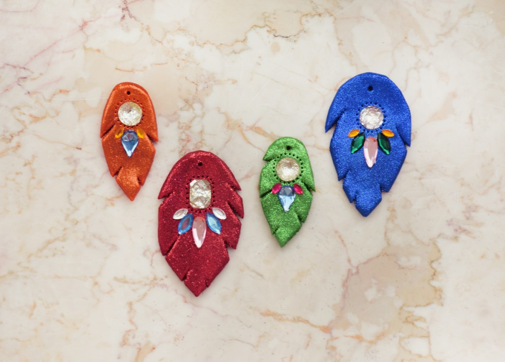 Rainbow Mania Feather DIY Ornaments