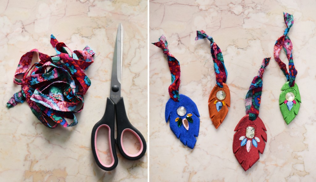 Rainbow Mania Feather DIY Ornaments