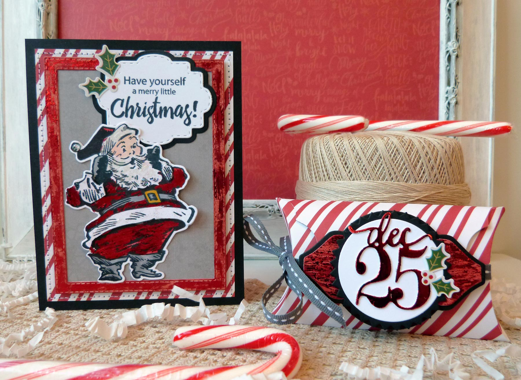 Merry Little Christmas Card and Pillow Box