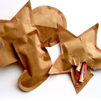 Sewn Paper Candy Pouches