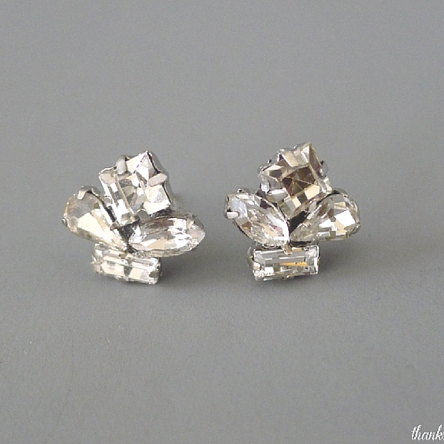 Charming Crystal Cluster Earrings