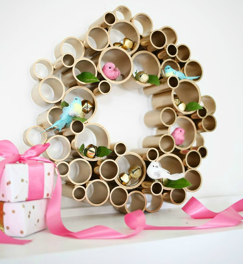 top 5 diy wreaths for christmas - Recycled Christmas Decor