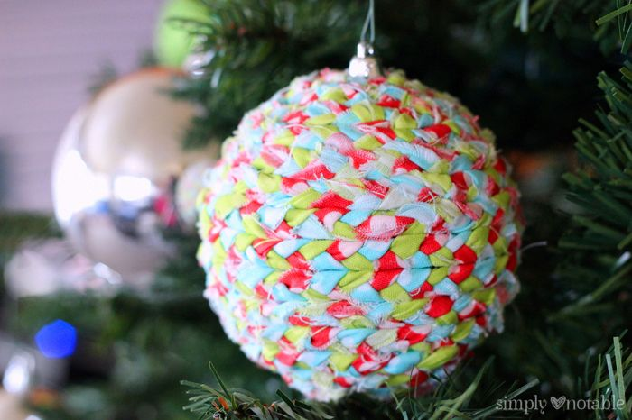 Upcycled Fabric Ornament