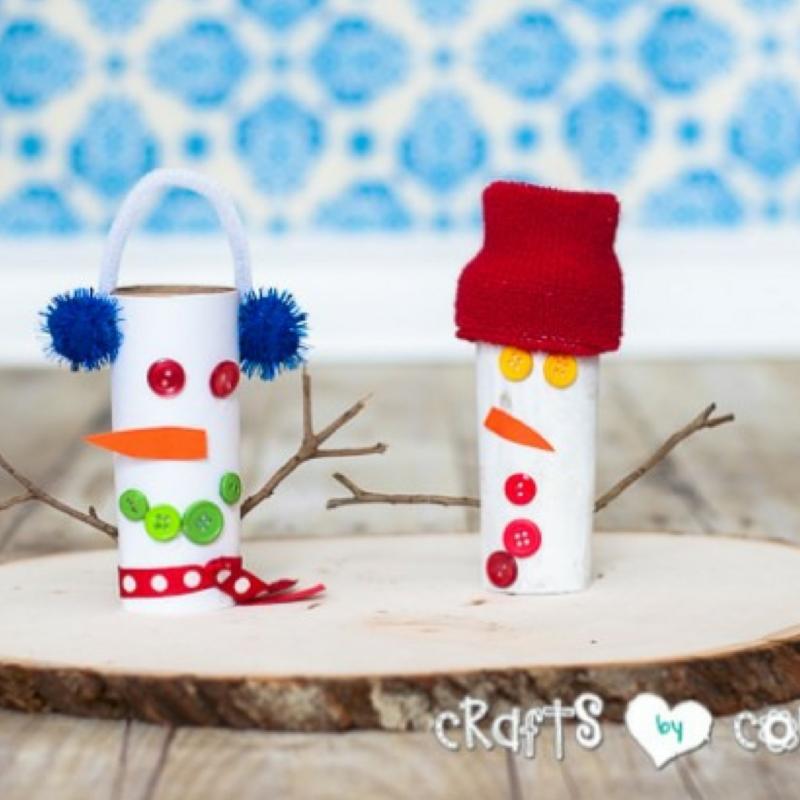 Goofy Toilet Paper Roll Snowmen