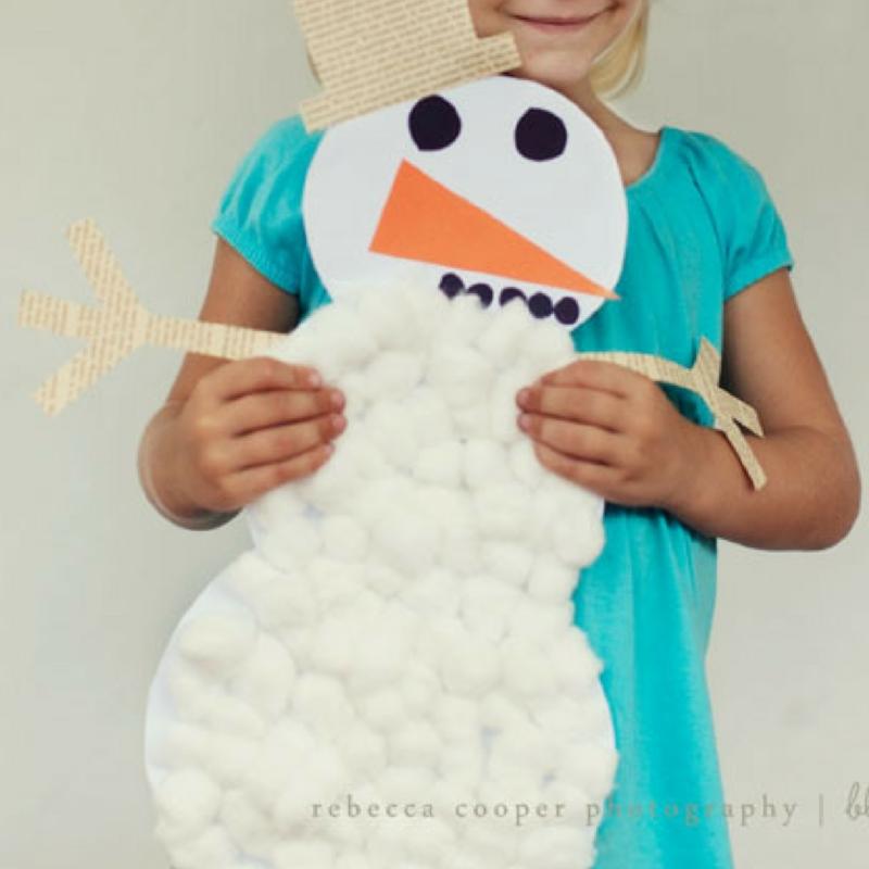 Cuddly Cotton Ball Snowman