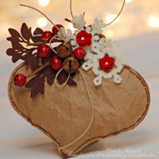 Simple Brown Bag Ornament