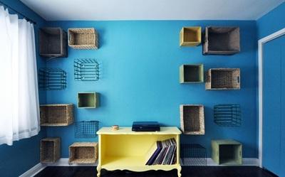 DIY Basket Shelves