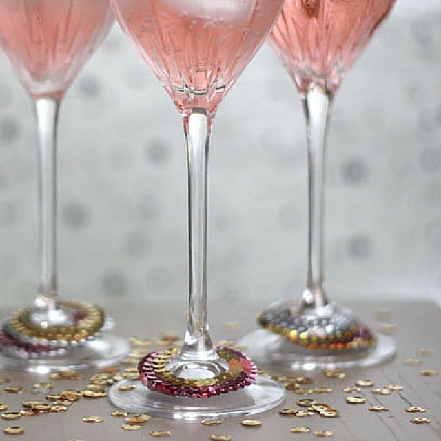 Sequined Cocktail Glass Collars