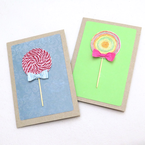 Diy Cards Lollipop Card Craft Paper Scissors