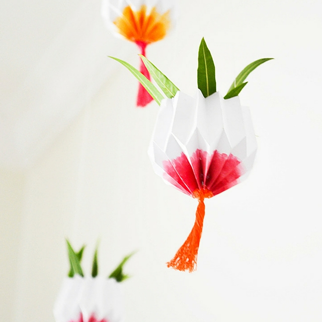 DIY Hanging Origami Garden