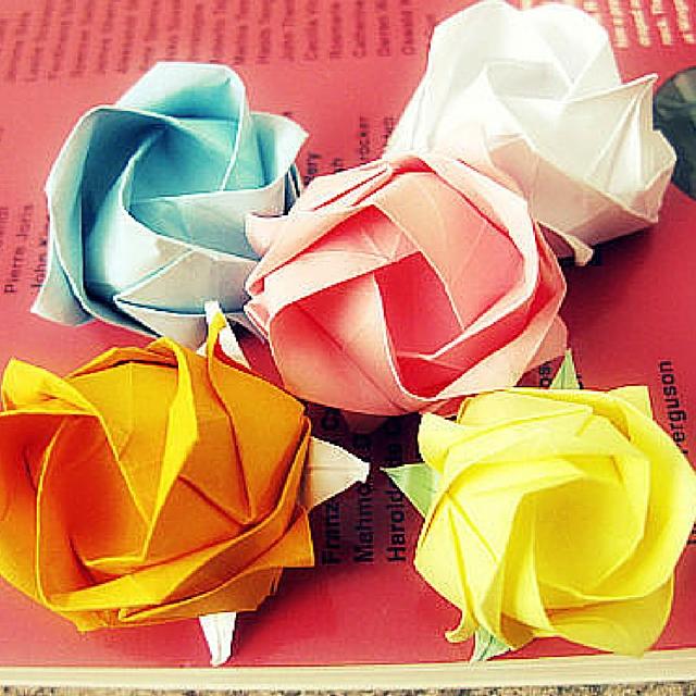 Pretty Paper Origami Rose
