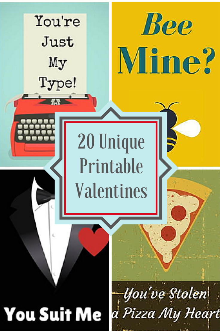 photo relating to Printable Valentines Pictures titled 20 Exceptional Printable Valentines - Craft Paper Scissors