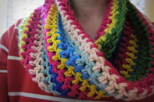 Candyland Crochet Cowl