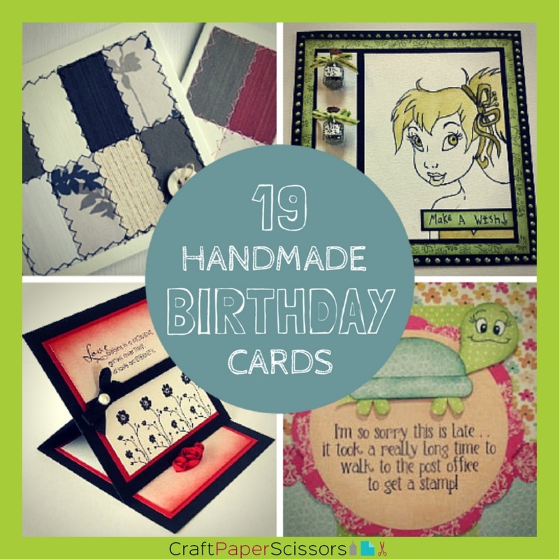 19 Handmade Birthday Cards Craft Paper Scissors
