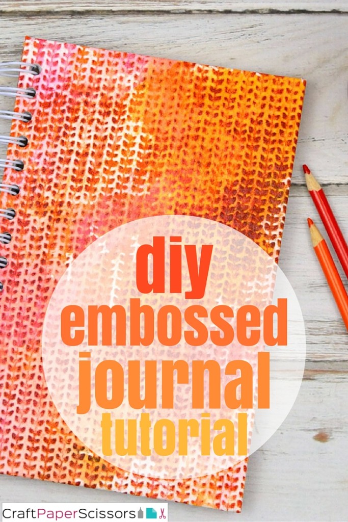 diy embossed journal tutorial