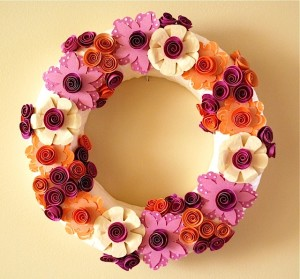 Pretty Paper Flower Wreath